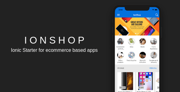 IonShop - Ionic 3 Starter for Ecommerce Based Apps  - PHP Script Download 1