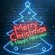 Quick Neon Christmas New Year Wish