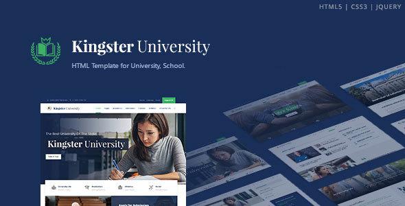 , Kingster – Education HTML Template, Laravel & VueJs