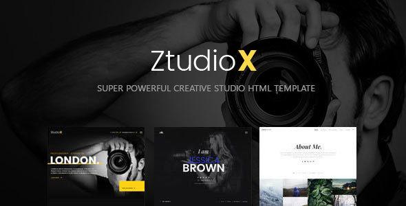 , Ztudio X – Creative Studio Photography HTML Template, Laravel & VueJs