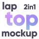 Animated Laptop Mockup 2 in 1