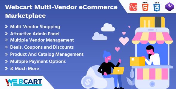 Web-cart - Multi Dealer eCommerce Marketplace - PHP Script Download