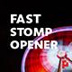 Fast Stomp // Typo Opener | Essential Graphics | Mogrt