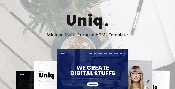 , Uniq – Minimal Multipurpose Creative HTML Template, Laravel & VueJs, Laravel & VueJs