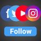 Instagram, Youtube, Facebook, Twitter Following