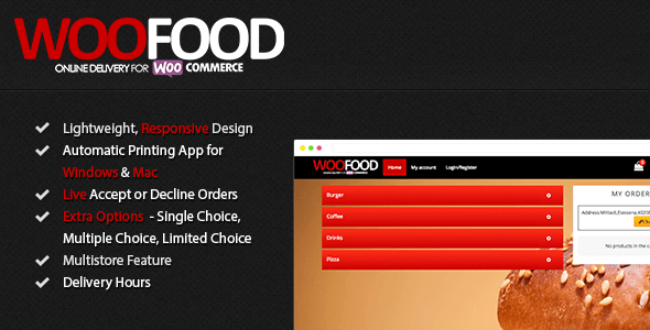 WooFood - On-line Transport for WooCommerce & Computerized Show Printing - PHP Script Download 1