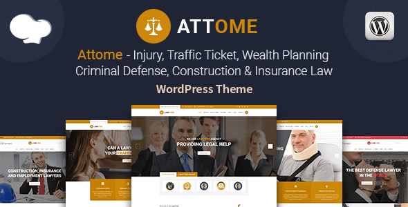 Attome | Lawyer & Attorney Responsive WordPress Theme