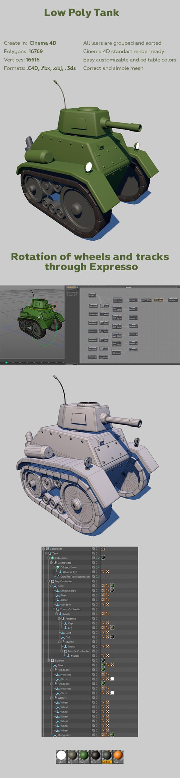 Low Poly Tank