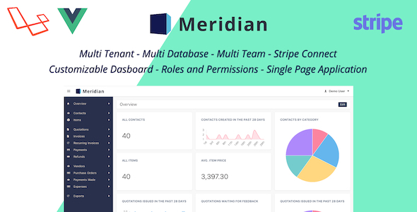 , Meridian – SAAS Platform for Invoicing and Purchasing, Laravel & VueJs, Laravel & VueJs