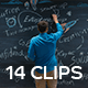 Collection of Stylish Diverse People Working on a Creative Design Occupations - Pack of 14 Clips