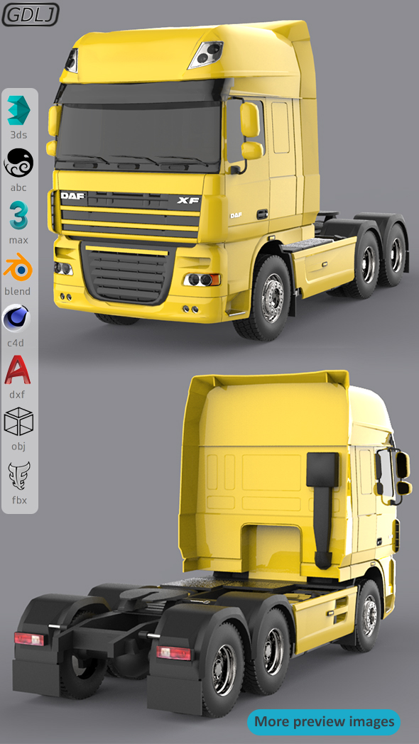 DAF XF 105 Yellow