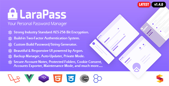 LaraPass - Your Private Password Manager - PHP Script Download