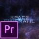 Space Cinematic Titles - Premiere Pro