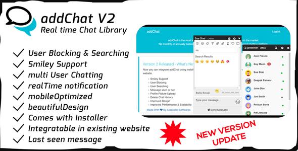 , AddChat – Laravel + Codeigniter – Get New Version Free Demo – Download Now, Laravel & VueJs