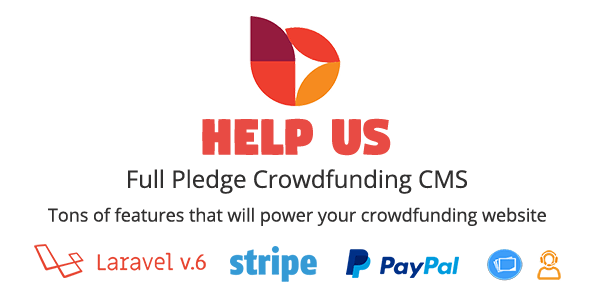 , HelpUs – Ultimate Crowdfunding Solution, Laravel & VueJs