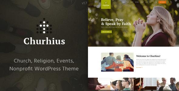Churhius - Religion WordPress Theme