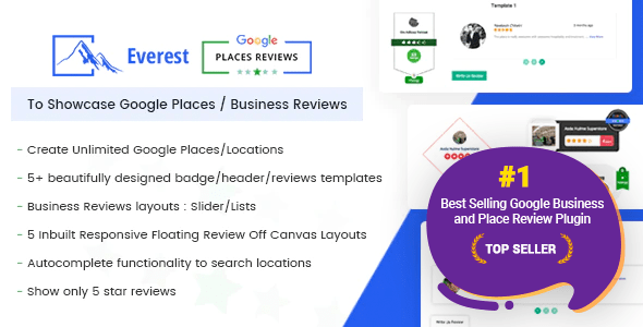 Everest Google Locations Evaluations - Most good WordPress Plugin To Showcase Google Locations / Substitute Evaluations - PHP Script Download 1