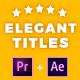 Elegant Titles After Effects