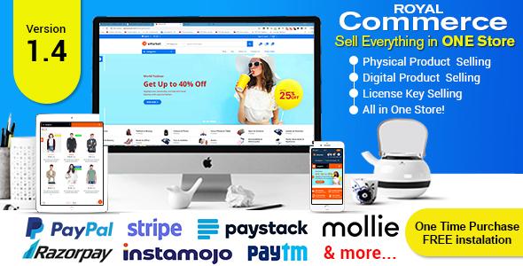 , RoyalCommerce – Laravel Ecommerce System with Physical and Digital Product Selling, Laravel & VueJs, Laravel & VueJs