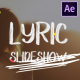 Lyric Slideshow | After Effects