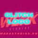 Colorful glitch logo opener
