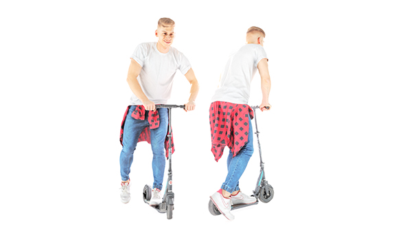 Stylish man on a scooter 29