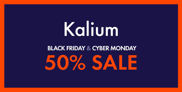 kalium cyber monday black friday sale 2019
