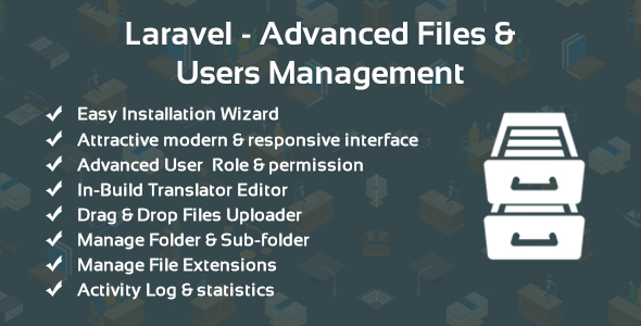 , Laravel – Advanced Files & Users Management, Laravel & VueJs