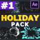 Cartoon Holiday Elements   After Effects