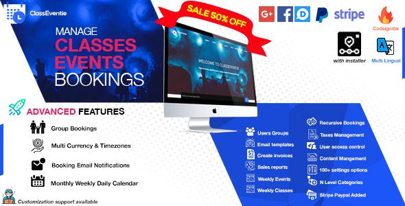 , Classeventie – Online Classes & Events Booking, Laravel & VueJs, Laravel & VueJs