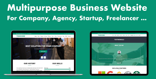 , Multipurpose Business Website for Company, Agency, Startup, Laravel & VueJs