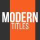 Modern Animated Titles