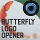 Butterfly Logo Opener  l  Elegant Logo Opener  l   Flipping Wings Logo Opener