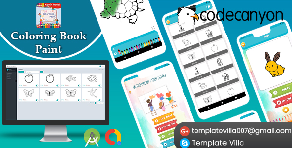Make A Coloring Book App With Mobile App Templates
