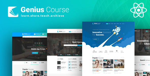 , Genius Course – ReactJS School Classes Institute HTML Template, Laravel & VueJs, Laravel & VueJs