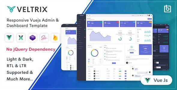 , Veltrix – Vuejs Admin & Dashboard Template, Laravel & VueJs, Laravel & VueJs