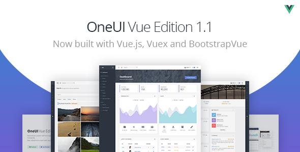 , OneUI Vue Edition – Vuejs Admin Dashboard Template, Laravel & VueJs