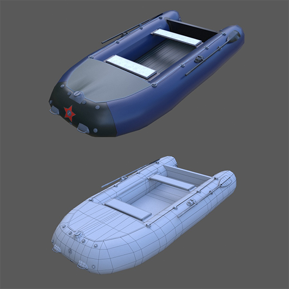 Russian inflatable boat rocket 360