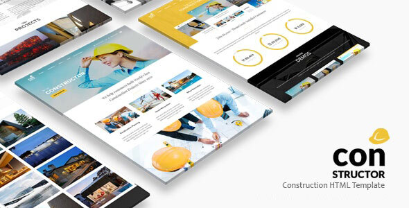 , Constructor | Construction HTML Template, Laravel & VueJs