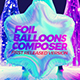 Foil Balloons Composer Looped