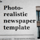 Photorealistic Modern Newspaper template