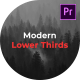 Modern Lower Thirds