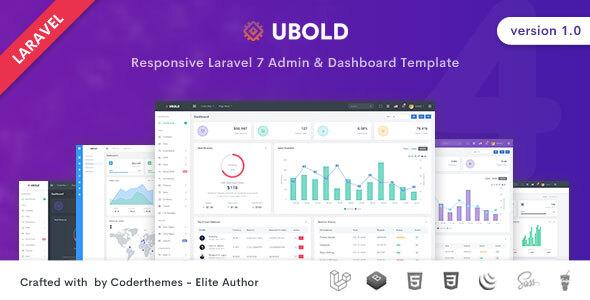 , Ubold – Laravel Admin & Dashboard Template, Laravel & VueJs, Laravel & VueJs