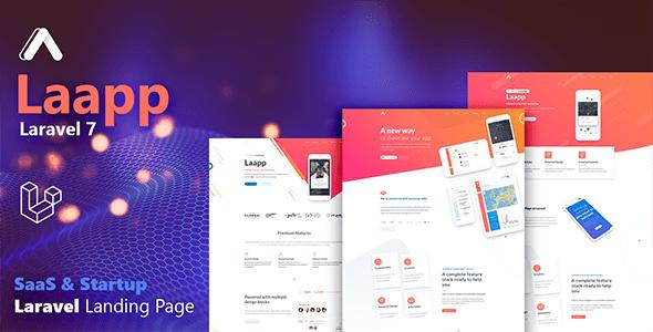 , Laapp – Laravel App Landing Page, Laravel & VueJs