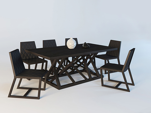 Vray Ready Dining Table