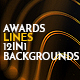 Awards Lines 12in1 Pack Loop Backgrounds Gold
