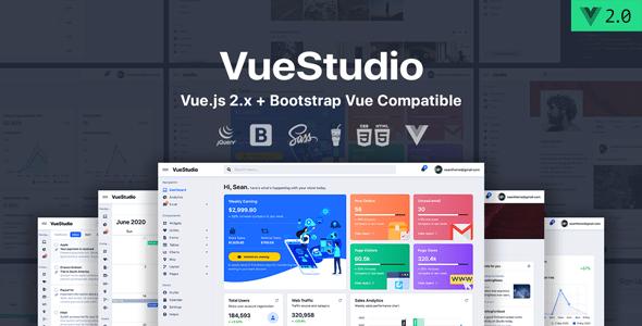 , VueStudio – Bootstrap 4 Admin Template, Laravel & VueJs