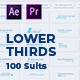 100 Lower Thirds Suits   MOGRT