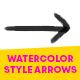 Watercolor Style Arrows