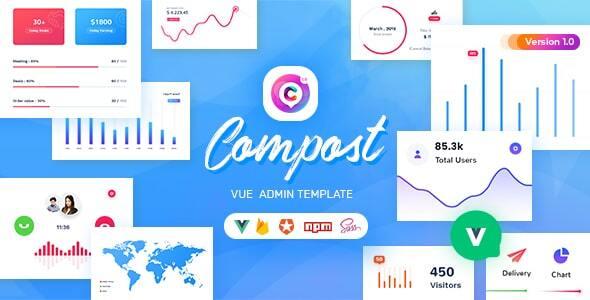 , Compost Vue – Vuejs Admin Template, Laravel & VueJs, Laravel & VueJs
